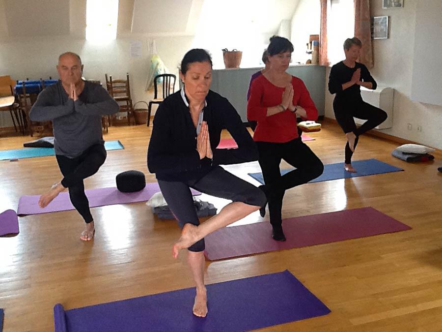séance de Yoga dans notre salle à Illfurth